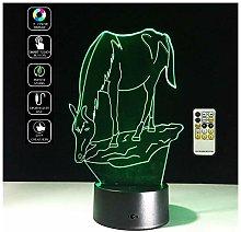 ® 3D Ottica 7 colori cambia pulsante di tocco e