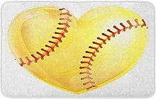 A forma di cuore giallo palla softball per amore
