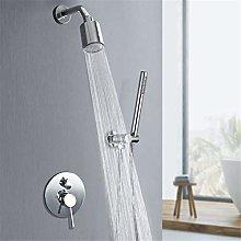 A parete rubinetto doccia System Set Spazzolato