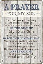 A Prayer For My Son Dear Dod Tin 20 x 30 cm