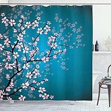 ABAKUHAUS Giapponese Tenda da Doccia, Sakura Bloom