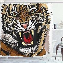 ABAKUHAUS Tigre Tenda da Doccia, Angry Occhi