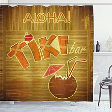 ABAKUHAUS Tiki Bar Tenda da Doccia, Wood Plank
