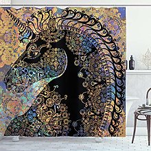 ABAKUHAUS Unicorno Tenda da Doccia, Mandala