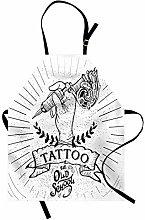 ABAKUHAUS Vecchia Scuola Grembiule, Mano Tattoo