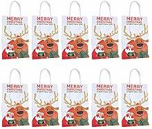 Abaodam 10 sacchetti di carta di Natale per