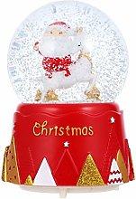 Abaodam - Scatola musicale natalizia con cristallo