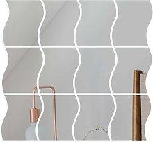 Abcrital - 12 pezzi Specchio adesivo da parete