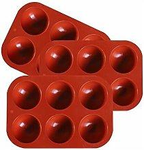 Abcrital - 3 pezzi 6 Stampo semisfera in silicone