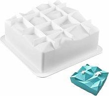 Abcrital - Forma quadrata in silicone per muffin,