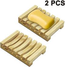 Abcrital - Portasapone da doccia in legno da 2