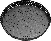 Abimy - Teglia per pizza rotonda perforata,
