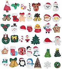 Aboofan - Set di 50 guanti in resina natalizia per