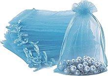 Abyk, sacchetti regalo in organza, 100 sacchetti