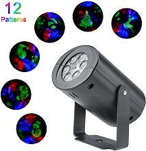 AC85V-265V LED 12Patterns Proiettore Luce RGB