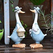 Accessori giardino Duck Ornaments Resina Anatra