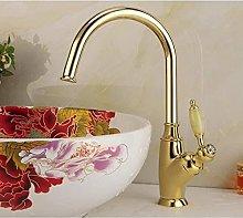 Accessori per lavabo ottone dorato maniglia giada