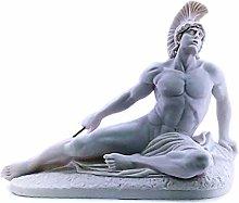 Achille che moriscono trojan eroe freccia in marmo