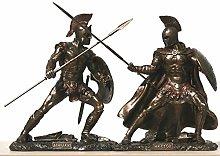 Achille vs Hector Battaglia di Guerriero Statua