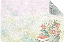 acquerello fiori, Cucina Mat Tappeto Cucina