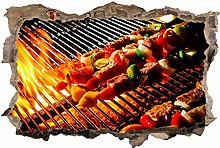Adesivi da Parete 3D,Barbecue barbecue DIY Adesivo