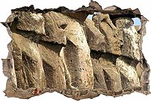 Adesivi da Parete 3D,enormi statue di pietra DIY