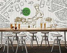 Adesivi da parete 3d Murale del ristorante