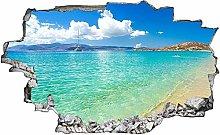 Adesivi da Parete 3D,Vacanze Sea Beach Beach DIY