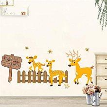 adesivi da parete 50 * 70cm famiglia cervi carini