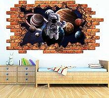 Adesivi da parete Adesivo murale spaziale 3D