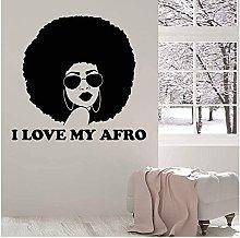 Adesivi da parete alla moda bella nera Lady Afro