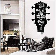 Adesivi da parete classici in vinile per chitarra