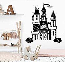 Adesivi da parete creativi divertenti castello