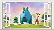 Adesivi da parete Dinopaws Magic Window Wall Art