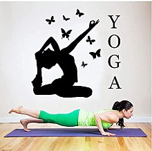 Adesivi da parete Home Decor Yoga Azione Farfalle