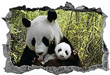 Adesivi da parete Panda murale 3D animale adesivo