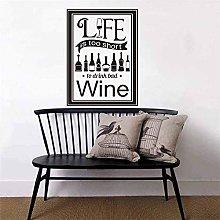 Adesivi La vita è troppo breve per bere vino