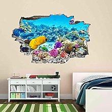 Adesivi murali 3D Acquario subacqueo Pesci