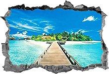 Adesivi murali - 3D - Adesivo da spiaggia Blue