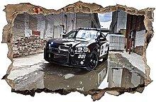 Adesivi murali - 3D - Adesivo murale auto della