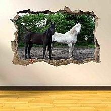 Adesivi murali 3D Adesivo murale con cavalli