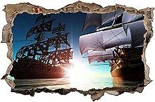Adesivi murali - 3D - Adesivo murale nave adesivo