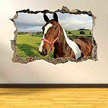 Adesivi murali 3D Adesivo murale per cavalli