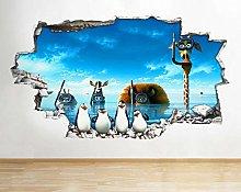 Adesivi murali 3D Animali Acqua Bambini Cool Hole