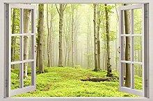 Adesivi murali - 3D- Bellissimi alberi verdi