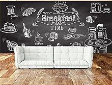 Adesivi murali 3d Carta da parati murale da pranzo
