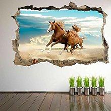 Adesivi murali 3D Cavalli Cavalli e puledri