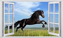 Adesivi murali - 3D - Cavallo Look Adesivo murale