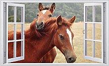 Adesivi murali - 3D - Cavallo Look Decalcomania da