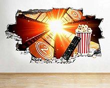 Adesivi murali 3D CinemaMovie Cool Living Hole